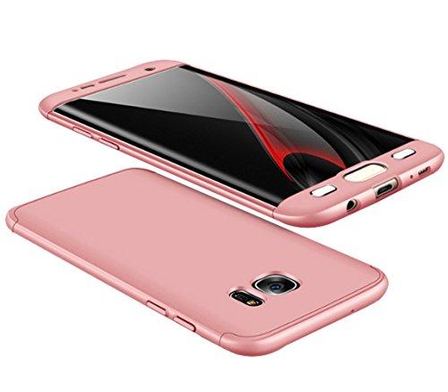360 Degree Hard Plastic Case for Samsung Galaxy S6 Edge (Gold) - 3