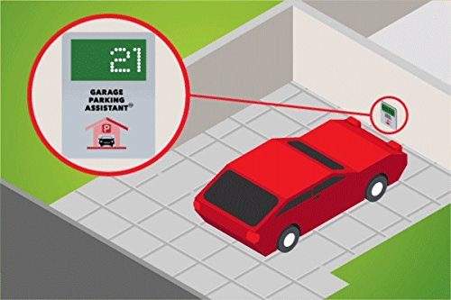 Garage Parking Assistant - Park your vehicle precisely and consistently. Large Digital Display to show the distance from the wall - No more scratched bumper ! ()