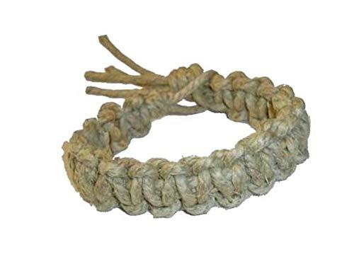 Hempnotic Jewelry Mens Thick All Natural Big Daddy Hemp Bracelet - Handmade