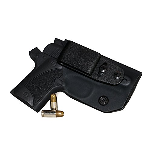 Deluxe Nylon Holster - FoxX Holsters Deluxe Trapp Kydex IWB Holster - Kimber Micro 9 Our Smallest Inside Waistband Holster Adjustable Cant & Retention, Conceal Carry (Black)