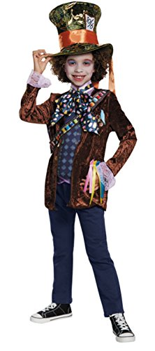 Mad Hatter Classic Alice Through The Looking Glass Movie Disney Costume, Large/10-12 (Mad Hatter Disney Costume)