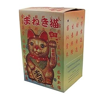 Ceramica 17cm Superfreak/® Gatto Maneki Neko Fortunato Occhiolino Ammiccante in Ceramica Tutti Colori Tutte Dimensioni Oro Oro