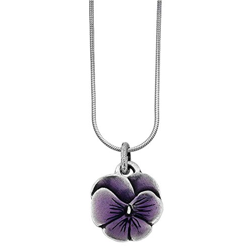 Purple Snake Pendant - Danforth - Pansy / Purple Snake Chain Necklace