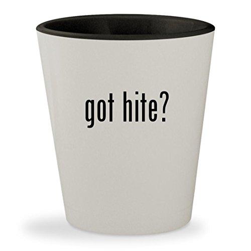 got hite? - White Outer & Black Inner Ceramic 1.5oz Shot Glass