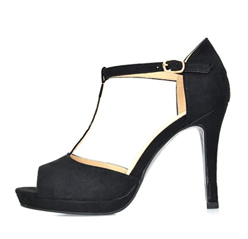 PAIRS 15 Sandals Stilettos DREAM Heeled GAL Fashion Women's BLACK xd7SSqw0