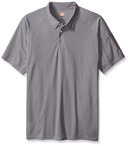 Red Kap Men's Big-Tall Active Performance Polo Shirt, Grey, 5X-Large