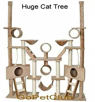 amazon     go pet club cat tree condo furniture 106 inch beige   cat houses and condos   pet supplies amazon     go pet club cat tree condo furniture 106 inch beige      rh   amazon