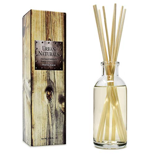 (Urban Naturals Winter Birch Reed Diffuser Oil Gift Set | Birch Wood & Balsam Scented Oil with Bamboo Reed Sticks | Great Holiday Home Fragrance Air Freshener for The Living Room)