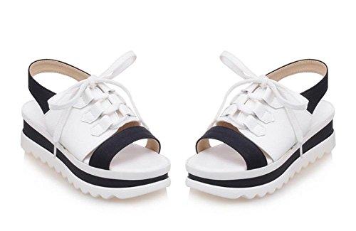 sandalias deportivas con la mujer sandalias de fondo grueso panecillo salvaje verano estudiantes simples sandalias planas White