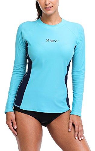 ALove Rash Guard Women Swim Shirt Long Sleeve Ladies Rashguard UPF 50...