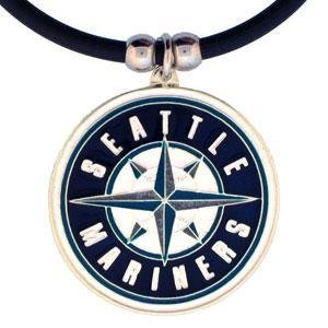 MLB Seattle Mariners Rubber Cord Necklace (Necklace Sports Rubber)