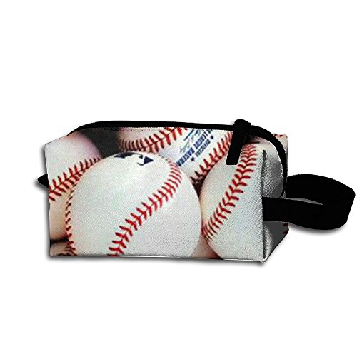Softball Baseball Cosmetic Pouch Cosmetic Bag Accessory Case Durable Handle For Children