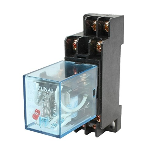URBEST HH52P DYF08A Plastic Coil DPDT Black Clear Blue110/120V AC 8 Terminals Electromagnetic Relay w (120v Relay)