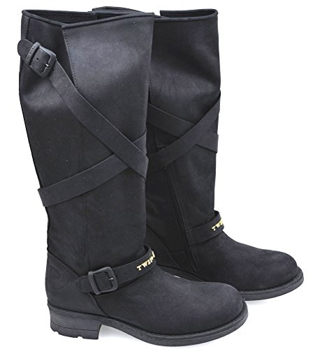 Under Leather A4 Black Woman h set Code Boot Twin Nero Knee ha48bm fH6EYWq