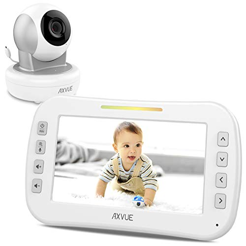 "Axvue Monitors E650 Video Baby With 5.0"" LCD Screen And Pan"