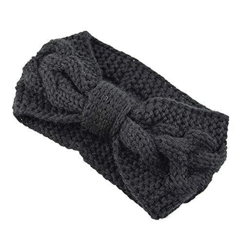 Zainafacai Headband, Women Hair Ball Knitting Headband Elastic Handmade Bow Design Hairband