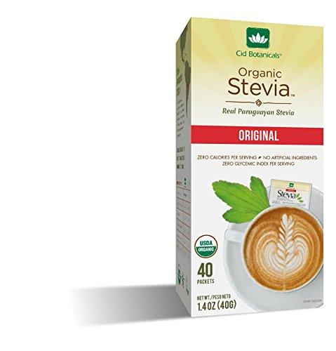 Cid Botanicals Stevia Sweetener Original Box X 40 Packets