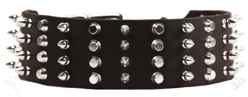 """Dean and Tyler """"4 ROW COMBO"""", Extra Wide Dog Collar with ..."""