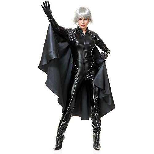 Thunder Storm Superhero Adult Costume,Black,Small]()