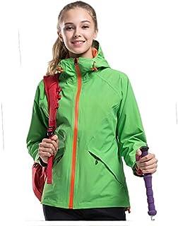 Coppia Giacca Uomo e Donna Single Layer Giacca Impermeabile Abbigliamento Alpinismo Jersey, Donna Verde Chiaro, XXL