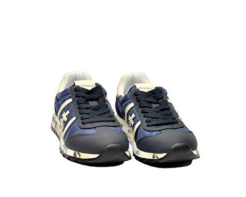 Premiata Damen LUCYD1997 Blau Stoff Sneakers