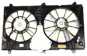 TYC 620690 Honda Accord Replacement Radiator/Condenser Cooling Fan Assembly - New Radiator Fan Assembly