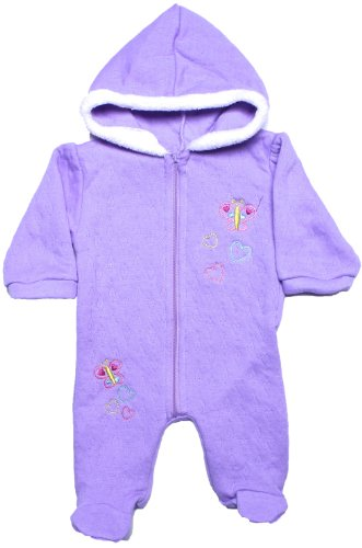 UPC 726670919410, CONEY ISLE Baby Girls Purple Fleece Hooded Footie Coverall 6M
