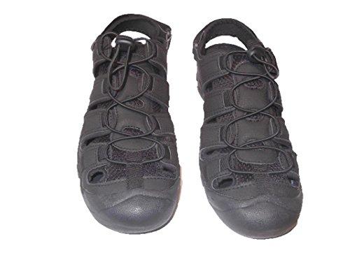 Sport Nicoboco Mann Sandale Jugendliche Spain Gummisohle Schwarz Textilmaterial Made Easy in Closure ggfUq