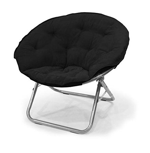 urban-shop-microsuede-saucer-chair-black
