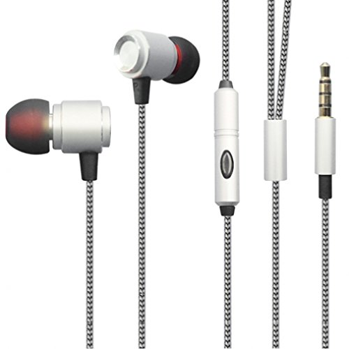 Premium Sound Quality Wired Headset Metal Earbuds Microphone