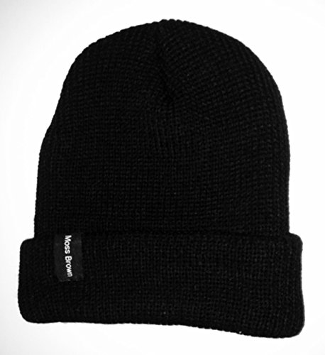 Moss Brown & Co. Solid Beanie Hat 100% Acrylic, One Size Fits All - - Outfitters Shipping International Urban