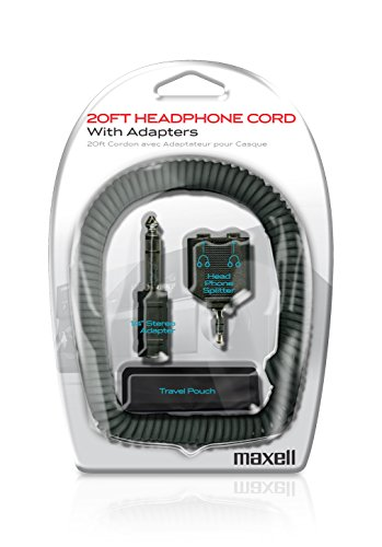 Maxell 190399 Headphone Extension Cord W/Adapter Kit