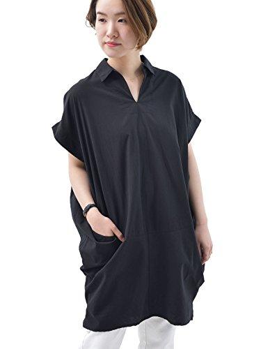(アール?ピー?エス) r?p?s テーラー衿コクーン半袖ワンピース 0550504081 M ブラック