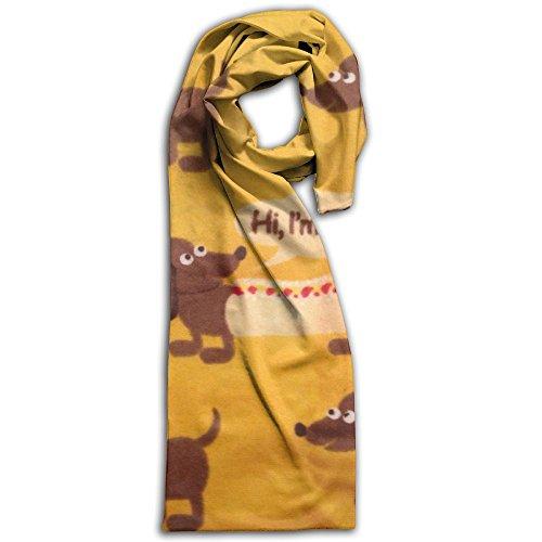 Cute Wiener Dog Fabric Wallpaper Winter Scarves Lightweight Warm Towel Stylish Shawl Scarf - Size Burberry Guide