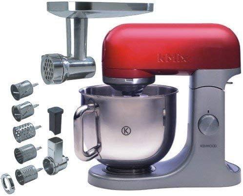 Kenwood KMX61 Batidora amasadora, 500 W, 5 L, acero inoxidable, aluminio, color rojo y gris: Amazon.es: Hogar