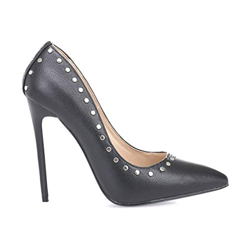 Zapatos De La Mujer Negro Modeuse Vestir 50642 Sintético xRxEwC