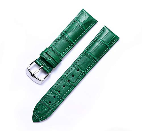 Genuine Calfskin Replacement Leather Watch Strap Multicolor(12mm,14mm,16mm,17mm,18mm,19mm,20mm,21mm,22mm,23mm,24mm)