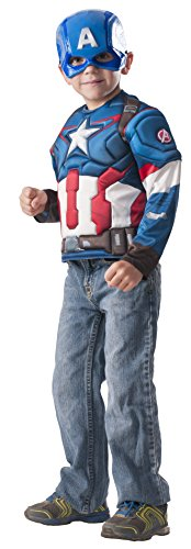 Imagine by Rubie's Costume Avengers Age of Ultron Captain America Muscle Chest Shirt Set (Muscle Chest Shirt Costume)