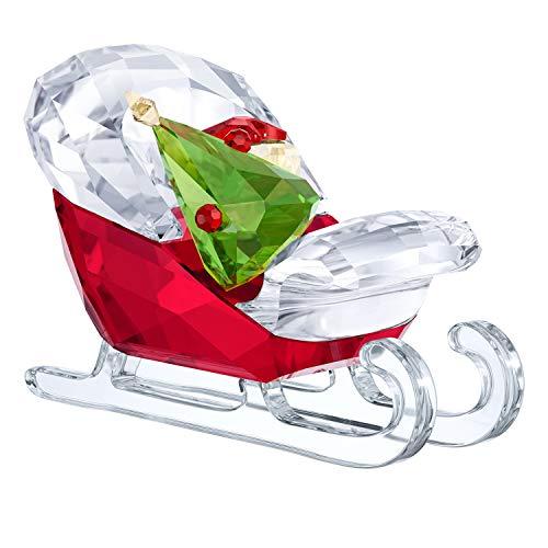 (Swarovski Multicoloured 3.9x 6x 3.2cm, Santa's Sleigh Crystal)