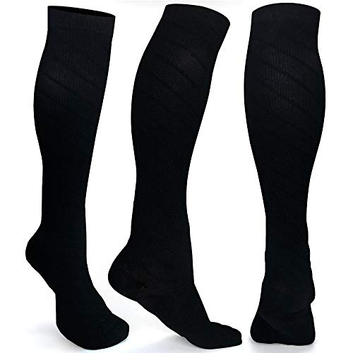 ODIJOO Compression Socks 20-30 mmHg for Women & Men(1 Pairs)-Best for Running, Athletic, Medical, Pregnancy and Travel