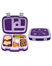 Bentgo Kids Prints (Unicorn) - Leak-Proof, 5-Compartment Bento-Style Kids Lunch Box – Ideal Portion Sizes for Ages 3 to 7 – BPA-Free and Food-Safe Materials