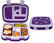 Bentgo Kids Prints (Unicorn) - Leak-Proof, 5-Compartment Bento-Style Kids Lunch Box - Ideal Portion Sizes for