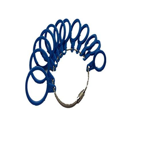 Baguier Calibre en Plastique International 14-25 Standard Bleu