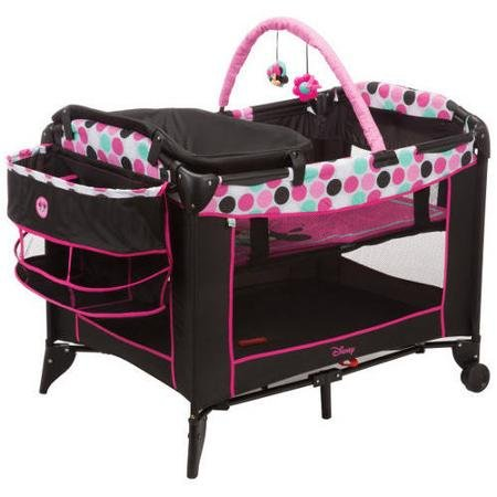 Disney Baby, Infant Play Yard, Play Pen With Changing Station (Minnie Dottie) from Disney