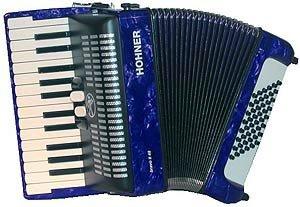 HOHNER BRAVO II 48 BLAU Akkordeons Piano-Akkordeons