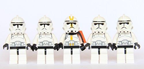 LEGO® Star Wars - 5 Clone Trooper Army (Custom Lego Star Wars Clone Trooper Minifigures)