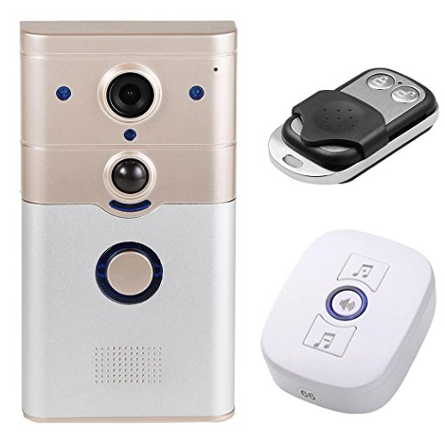 Hindom Wireless WIFI Doorbell P2P Cloud Storage, Full –duplex Voice Intercom, Support for Android and IOS System,720P HD WIFI Security Camera Doorbell (Yellow) by dtemple (Image #1)