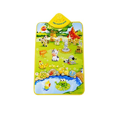 """Carpet Mat Toy, Malltop Fashion Kids Baby Farm Animal Musical Music Touch Play Singing Gym Toy Gift 23.62X15.74"""""""