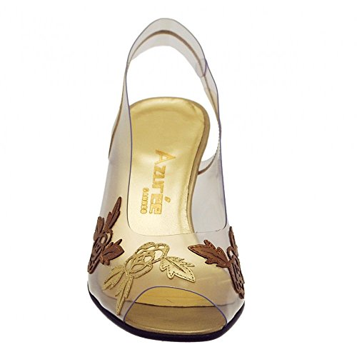 Gold bronze Sandal Azuree Gold Motif Fq85nZ