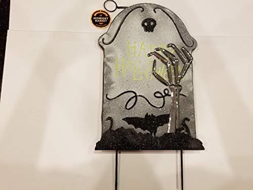 The Midnight Market Garden Stake - Happy Halloween Tombstone